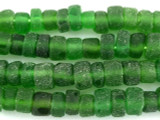Green Recycled Glass Beads - Indonesia 10-13mm (RG408)