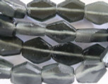Gray (Smoky) Recycled Glass Beads - Indonesia 19mm (RG422)