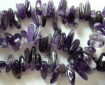 Amethyst Stick Gemstone Beads 10-25mm (GS922)