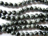 Snowflake Obsidian Round Beads 6mm (GS1093)