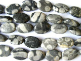 Polka Dot Jasper Oval Tabular Gemstone Beads 18mm (GS945)