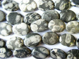 Polka Dot Jasper Oval Tabular Beads 20mm (GS946)