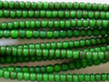 Green White Heart Trade Beads 4-5mm (AT3764)