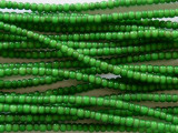 Green White Heart Trade Beads 3-4mm (AT3766)