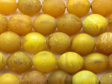 Old Yellow Glass Maasai Beads 23-24mm (RF8702)