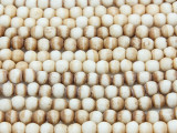Antiqued Irregular Round Bone Beads 4mm (B9021)