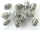 Pewter Bead - Barrel 10mm (PB51)