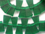 Emerald Green Trapezoid Resin Beads 24mm (RES73)