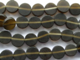 Brown Round Tabular Resin Beads 11mm (RES124)