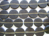 Brown Round Tabular Resin Beads 19mm (RES50)