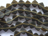 Brown Diamond Tabular Resin Beads 10mm (RES336)