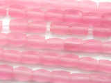 Pink Faceted Cylinder Resin Beads 12mm (RES346)