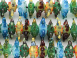 Funky Flower Lampwork Glass Beads 20mm (LW1220)