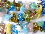 Polka Dot Pony Lampwork Glass Beads 30mm (LW1232)