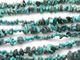 "Turquoise w/Matrix Chip Beads - 30"" strand (TUR40)"