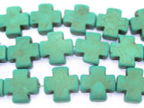Turquoise Magnesite Cross Beads 20mm (GS1158)