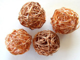 Round Copper Wire Bead 15mm (CP52)