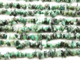 "Emerald Chip Gemstone Beads - 34"" strand (GS1209)"