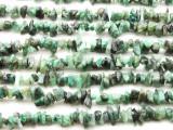 "Emerald Chip Gemstone Beads - 34"" strand (GS1209)"