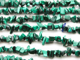 "Malachite Chip Gemstone Beads - 34"" strand (GS1212)"