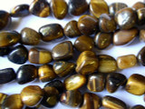 Tiger Eye Nugget Gemstone Beads (GS128)