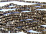 Voluta Shell Brown Heishi Beads 2-3mm - 2 foot strand (SH219)