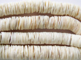 Clam Shell Disc Beads - Africa 10-14mm (AT52)