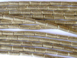 Silver Metal Tube Beads - Ethiopia (ME5)