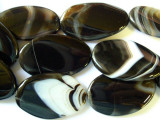 Brazilian Banded Onyx Tabular Gemstone Beads 40mm (GS1264)