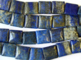 Lapis Lazuli Square Tabular Gemstone Beads 15mm (GS1266)