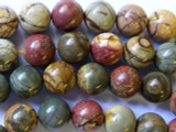 Red Creek Jasper Round Gemstone Beads 14mm (GS1317)