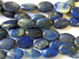 Lapis Lazuli Oval Tabular Gemstone Beads 18mm (GS1271)