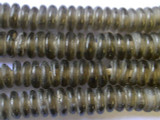 Gray Disc Recycled Glass Beads 11mm - Africa (RG52)