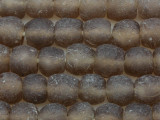 Beige Recycled Glass Beads 14mm - Africa (RG59)