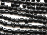 Black Triangular Glass Beads 5-7mm (JV250)