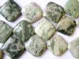 Peace Jade Diamond Tabular Gemstone Beads 20mm (GS1650)