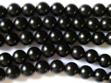 Jet Round Gemstone Beads 10mm (GS1504)