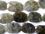 Labradorite Faceted Oval Tabular Gemstone Beads 25-30mm (GS1655)