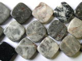 Gray River Jasper Diamond Tabular Beads 18mm (GS1581)