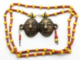 Double Headhunter Pendant Necklace - Nagaland (NP165)