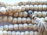 Carved Bone Prayer Beads Mala 10mm (NP534)