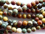 Red Creek Jasper Round Gemstone Beads 6mm (GS1663)