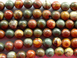 Red Creek Jasper Round Beads 7-8mm (GS1666)