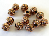 Ornate, Copper Metalized Plastic Bead 9mm (MP65)