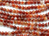 Carnelian Agate Round Gemstone Beads 8mm (GS1675)