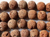 Red Natural Lava Rock Round Beads 17mm (LAV45)