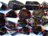 Garnet Faceted Freeform Nugget Beads 16-30mm (GS1765)