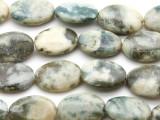 Peace Jade Oval Tabular Gemstone Beads 25mm (GS1793)