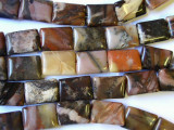 Turtle Jasper Rectangular Tabular Gemstone Beads 18mm (GS1750)