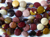 Australian Moukaite Faceted Tabular Gemstone Beads 12mm (GS1818)